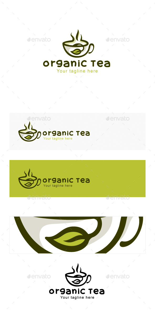 Organic Tea - Natural Drink Logo Design - Objects Logo Templates