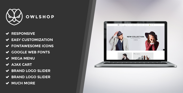 Owlshop – Minimalist Ecommerce WordPress Theme