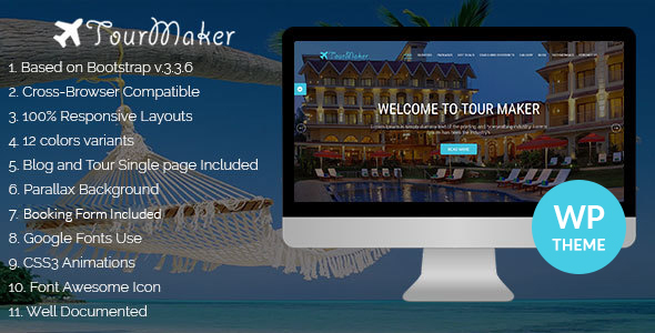 Tour Maker – Creative Tour & Travel Agency WordPress Theme