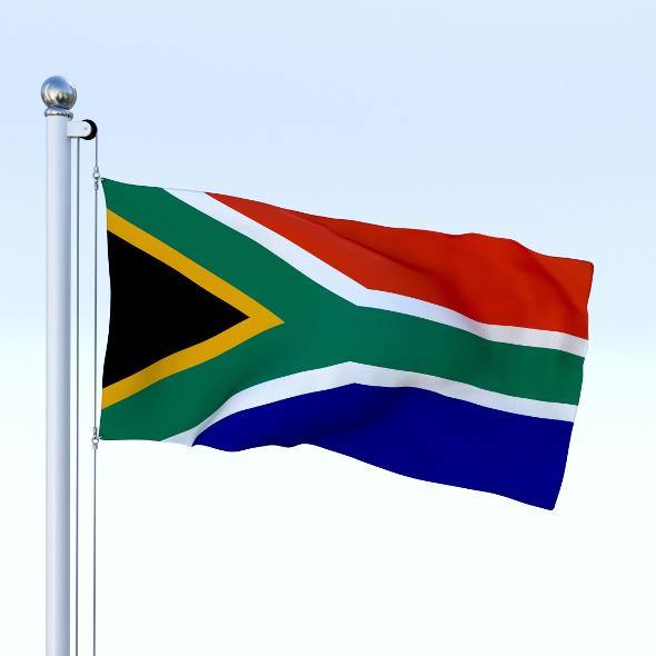 Animated South Africa Flag - 3DOcean Item for Sale