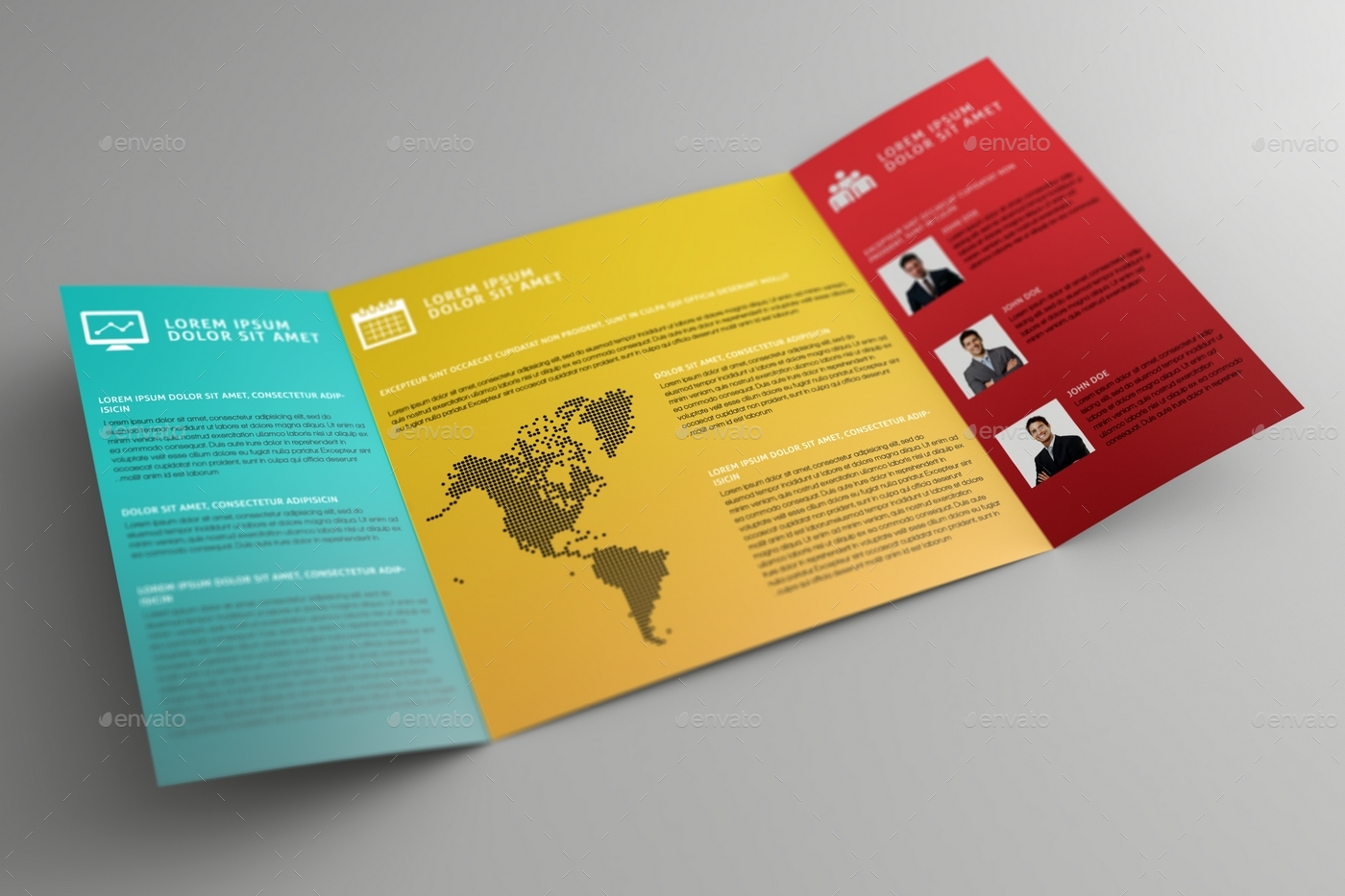 Gatefold Brochure Mock Up By MassDream