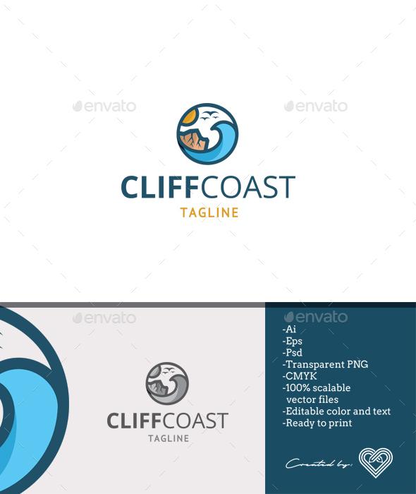 Cliff Coast - Nature Logo Templates