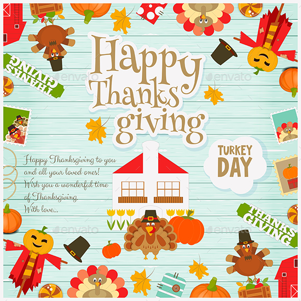 Thanksgiving Card - Miscellaneous Seasons/Holidays