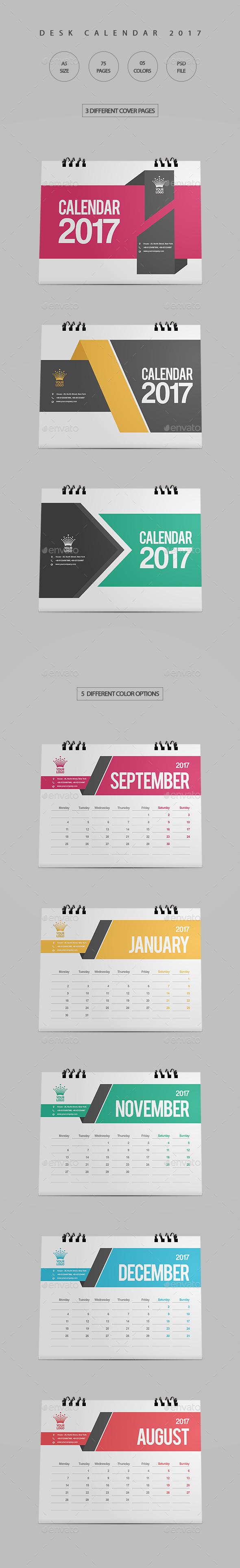 Clean Desk Calendar 2017 - Calendars Stationery