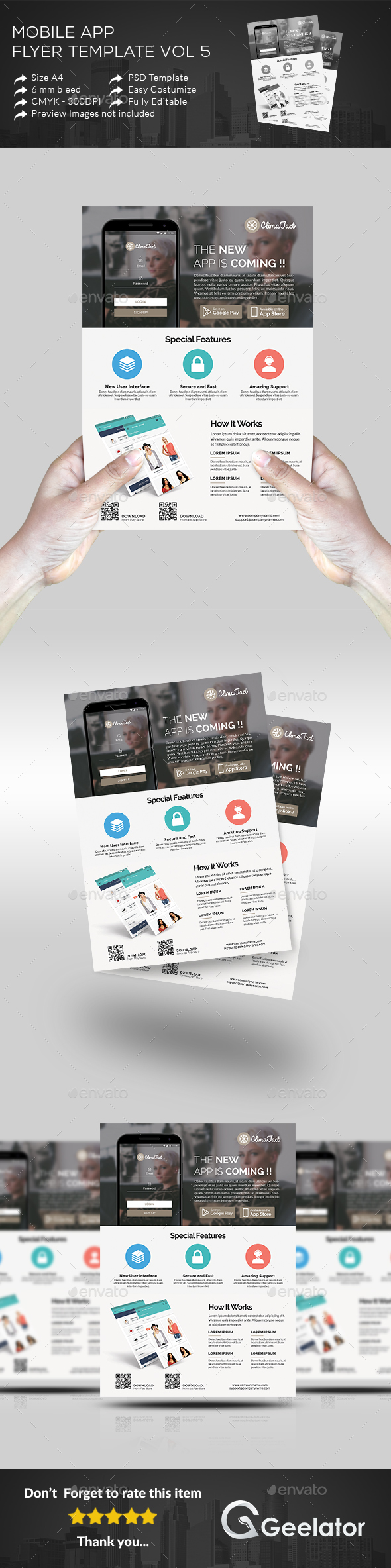 Mobile App Flyer Template 5 - Commerce Flyers