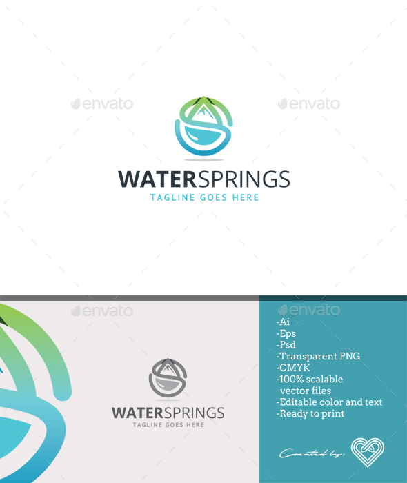 Water Springs - Nature Logo Templates