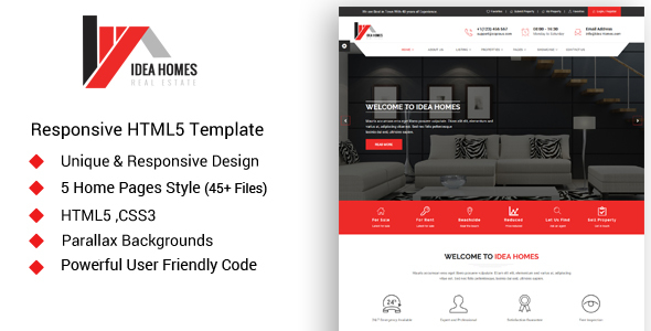 Idea homes – Real Estate Template
