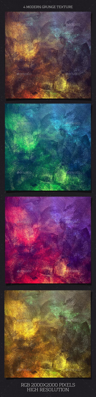 4 Modern Grunge Texture - Industrial / Grunge Textures