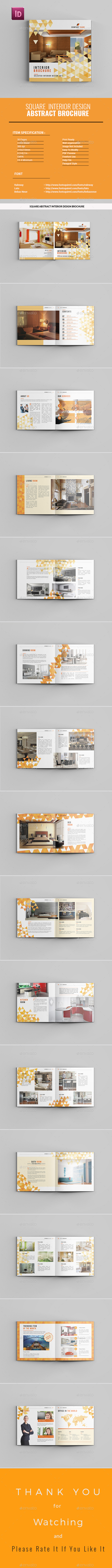 Square Abstract Interior Design Brochure - Catalogs Brochures