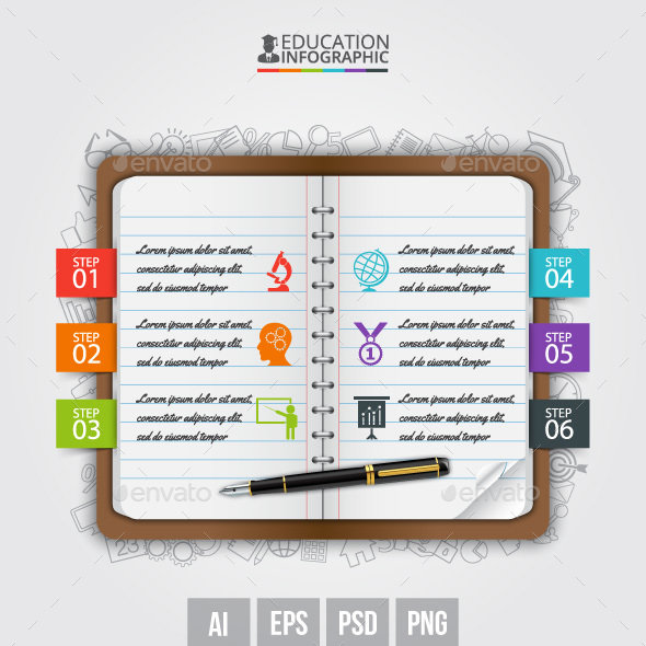 Vector note education infographic. - Infographics