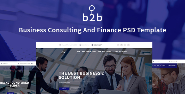 Business Consulting &  Finance, Corporate Template - Corporate PSD Templates