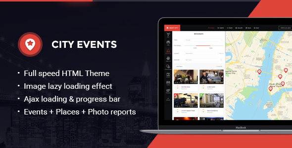 CityEvents – Highly-Optimized AJAX and AMP-Ready Directory Template
