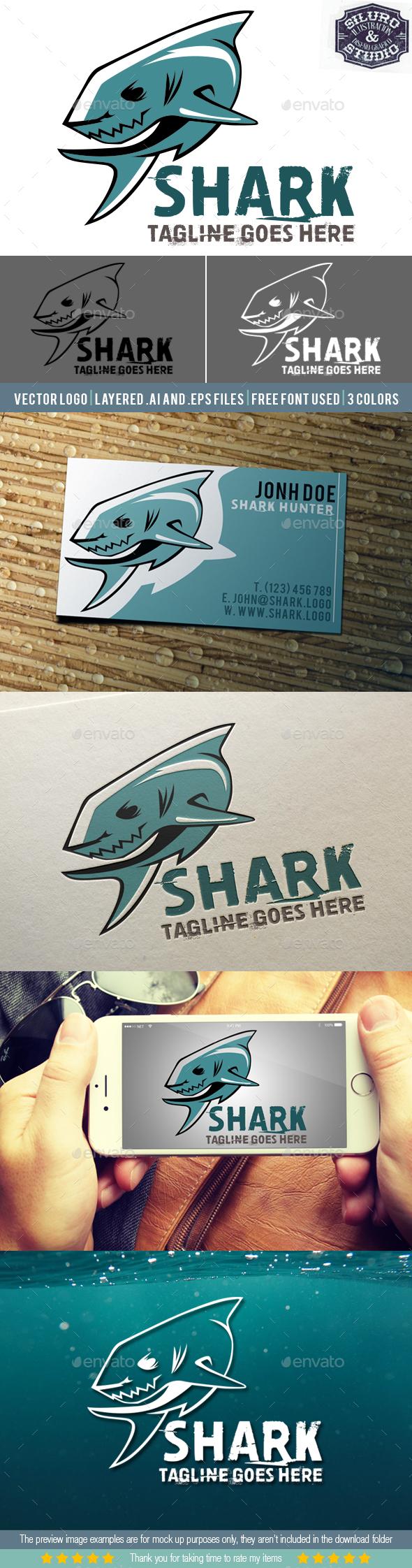 Shark Logo II - Animals Logo Templates
