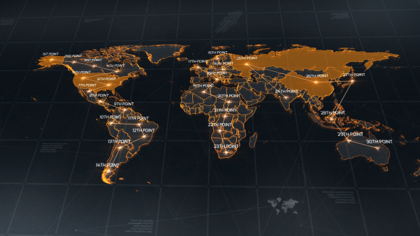 World map by chernu videohive play preview video gumiabroncs Gallery