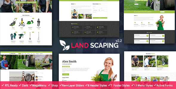 Landscaping- Gardening, Lawn & Landscape HTML5 Template - Business Corporate