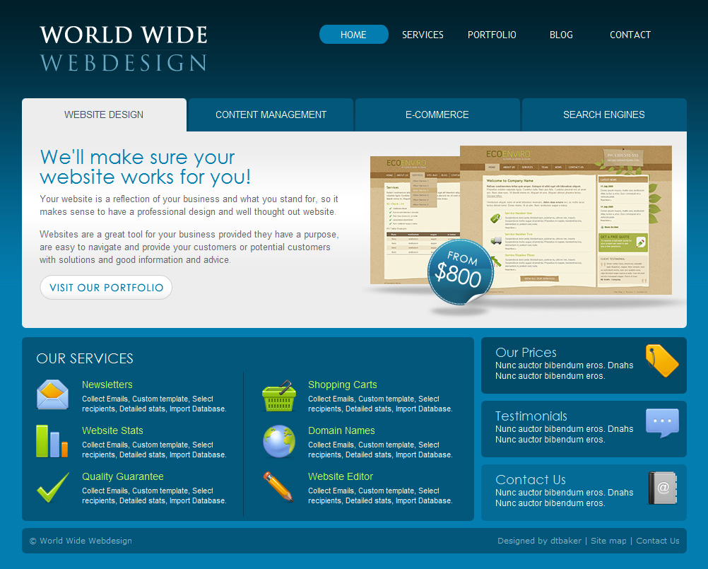 World Wide Webdesign 6 Page Html By Dtbaker Themeforest