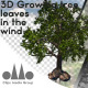 3D Photorealistic Growing Broadleaf Tree With Leaves In The Wind - VideoHive Item for Sale