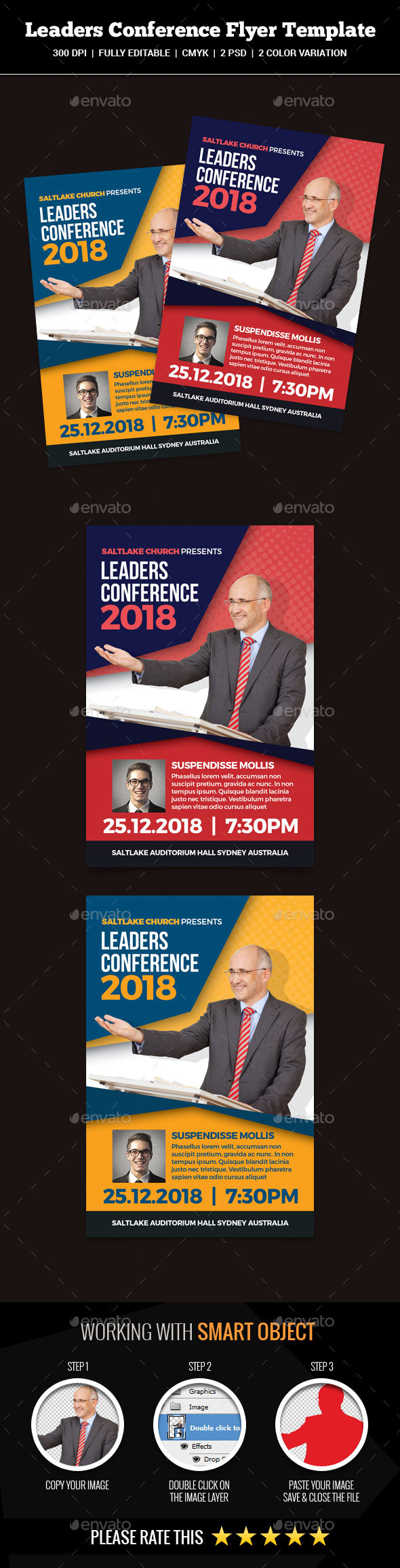 Leaders Conference Flyer - Church Flyers