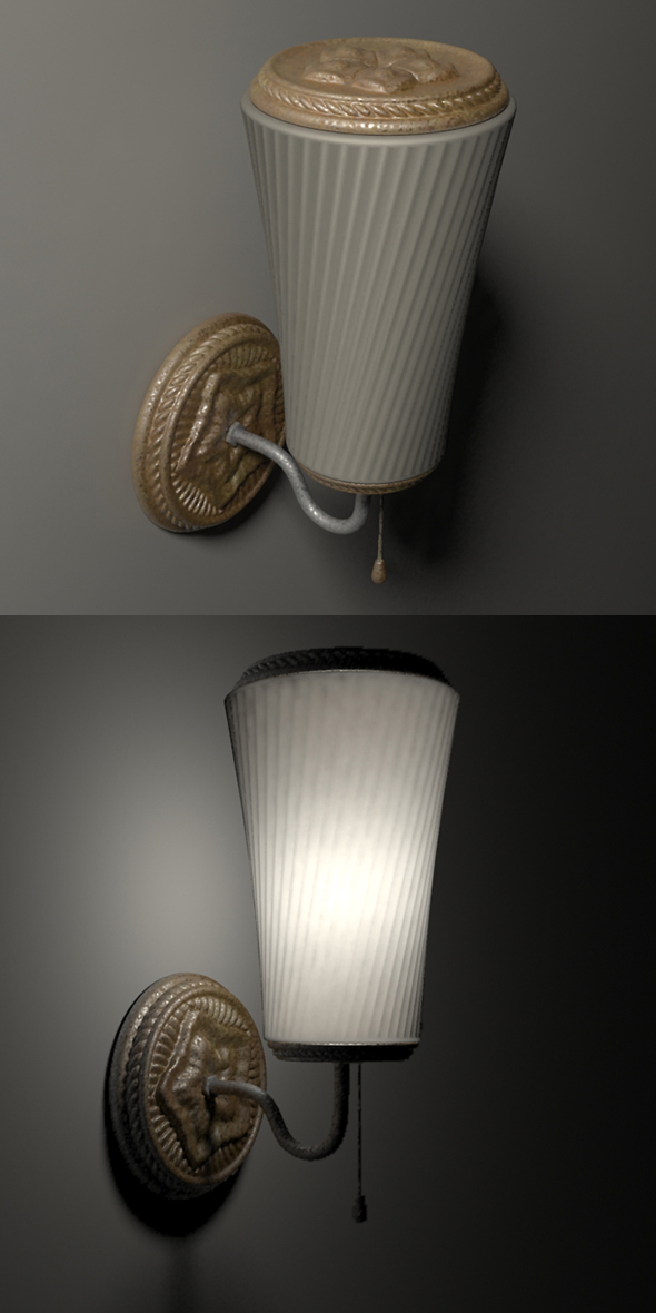 sconce 1 - 3DOcean Item for Sale