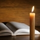Old Rare Holy Book With Candles In Front - VideoHive Item for Sale
