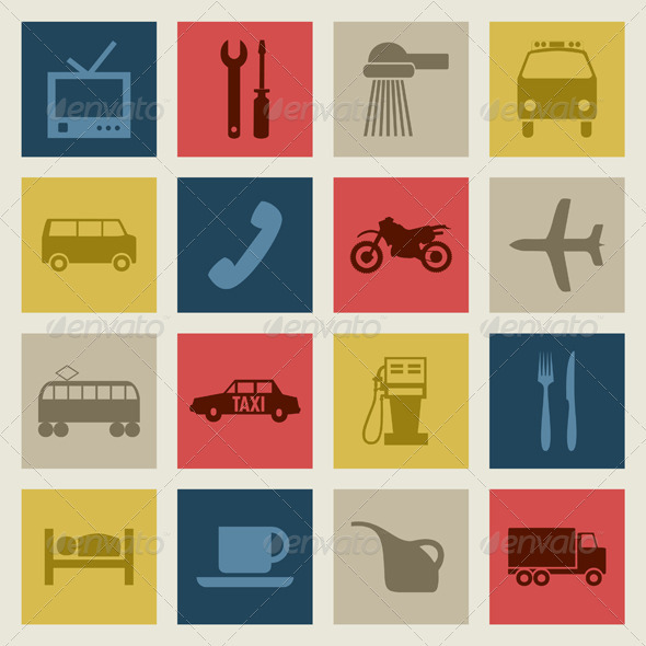 Transport Icons2 - Man-made Objects Objects
