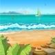 Marine Tropical Landscape - GraphicRiver Item for Sale