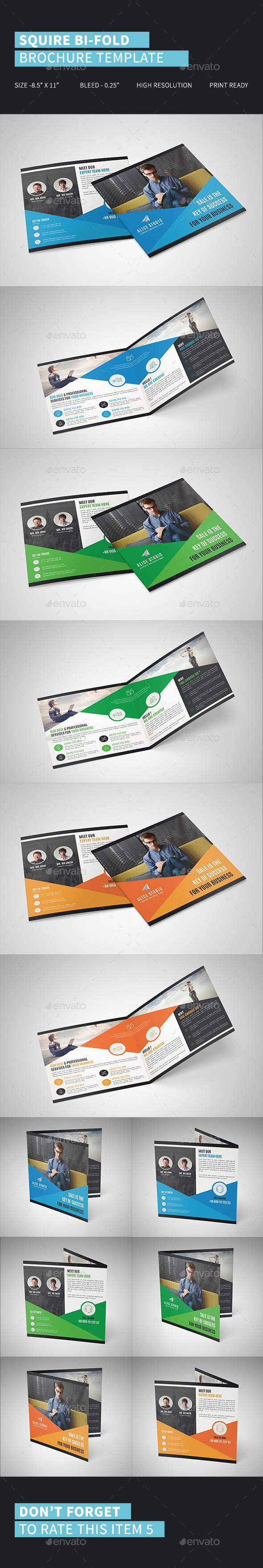 Squire Bi-Fold Brochure Template - Brochures Print Templates
