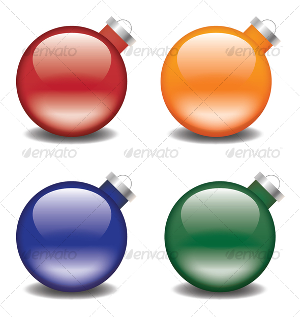 Christmas Tree Bulbs - Man-made Objects Objects