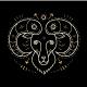 Thin Line Zodiac Aries Label - GraphicRiver Item for Sale