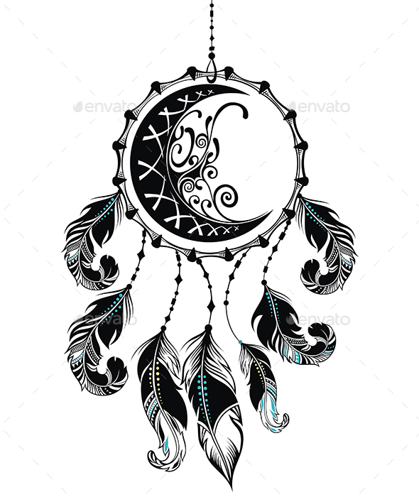 Dream Catcher with Feathers - Decorative Symbols Decorative