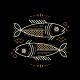 Thin Line Zodiac Pisces Label - GraphicRiver Item for Sale