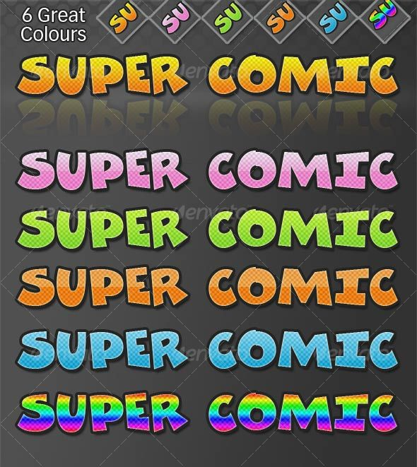 Super Comic  - Decorative Graphics