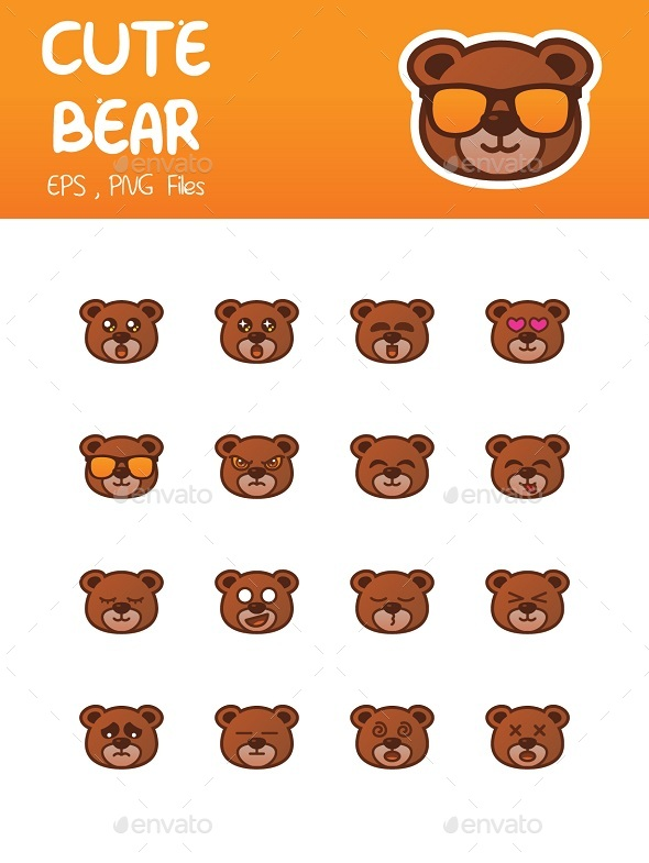 Bear Emoticon - Animals Characters