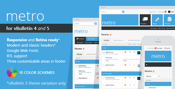 Download Free Metro - A Theme for vBulletin 4 and 5