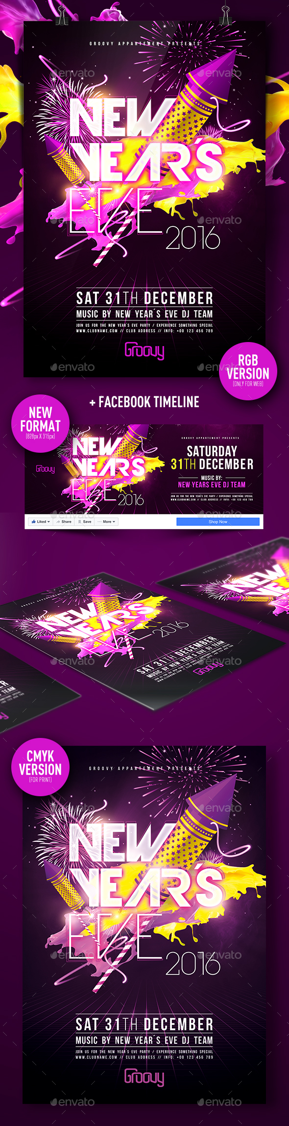 New Years Eve V3 - Clubs & Parties Events
