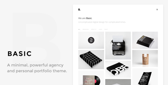 Basic – Minimal Portfolio WordPress Theme