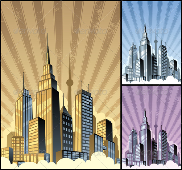 Cityscape Vertical - Backgrounds Decorative