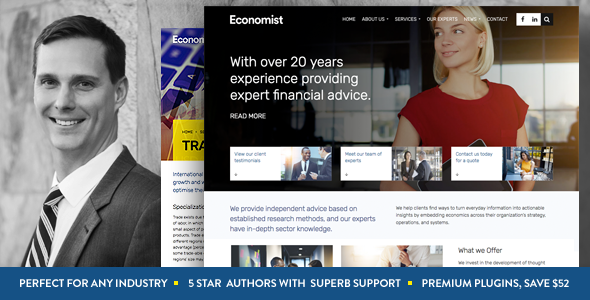 Economist – Business and Finance WordPress Theme