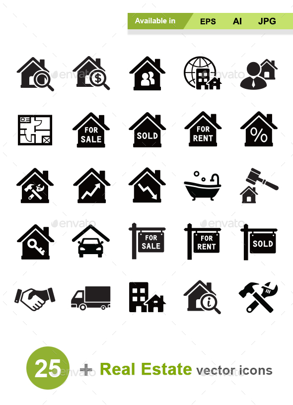 Real Estate Vector Icons - Business Icons