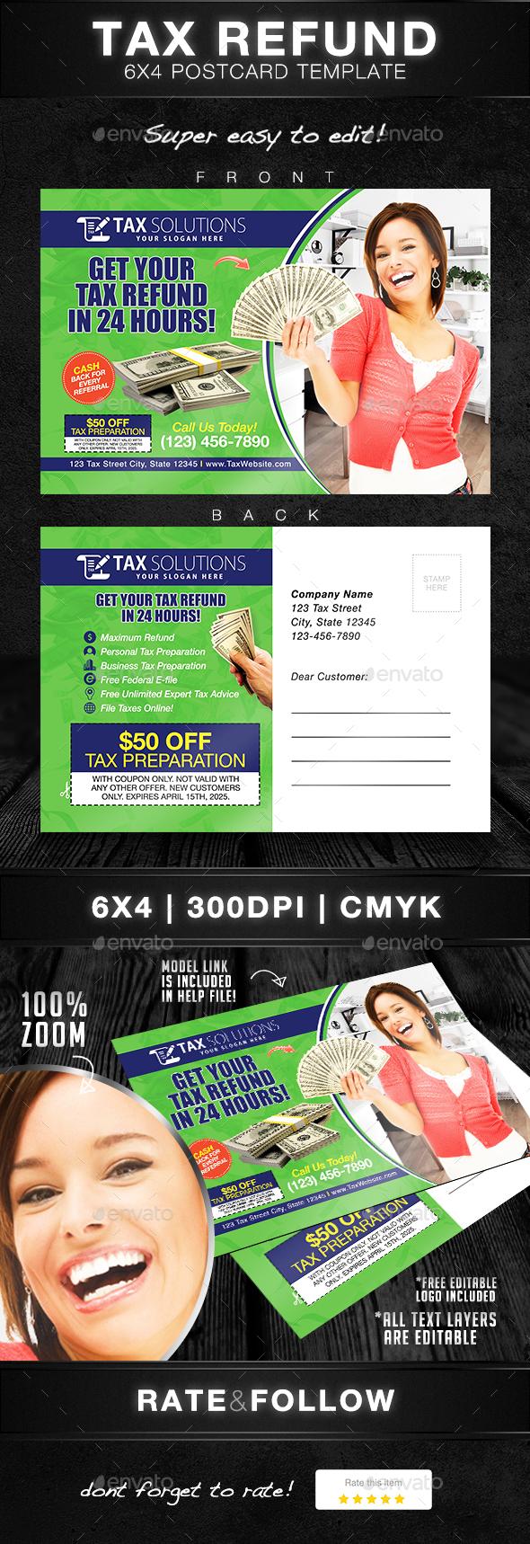 Tax Return Postcard Template - Print Templates