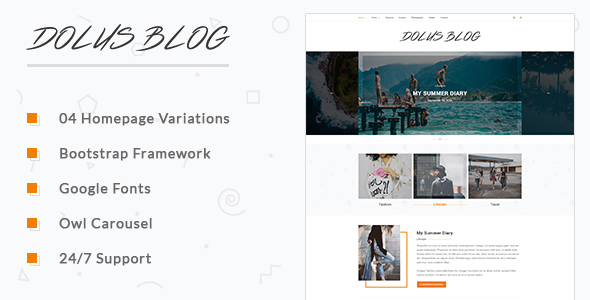 Dolus - Blog HTML5 Template - Retail Site Templates