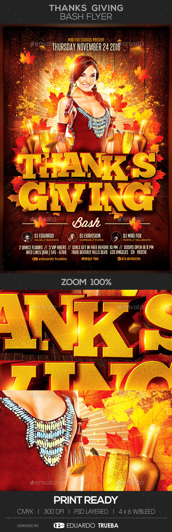 Thanks Giving Bash Flyer - Flyers Print Templates