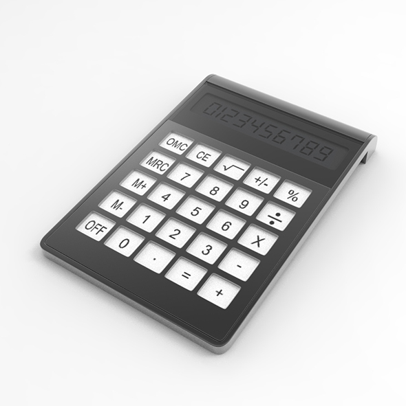 Highpoly Calculator - 3DOcean Item for Sale