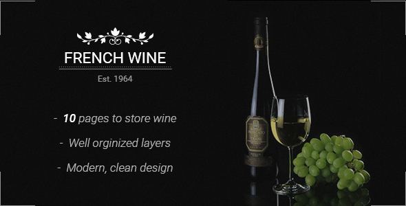 French Wine — PSD Store Template - Food Retail