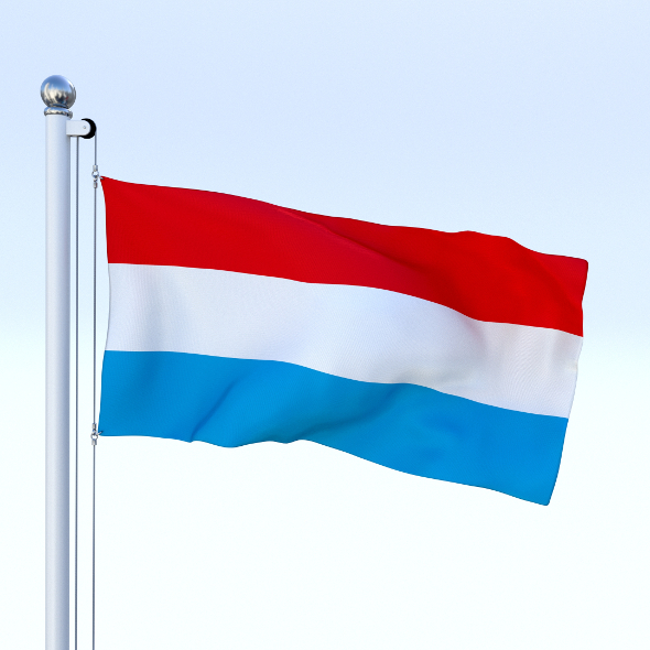 Animated Luxemburg Flag - 3DOcean Item for Sale