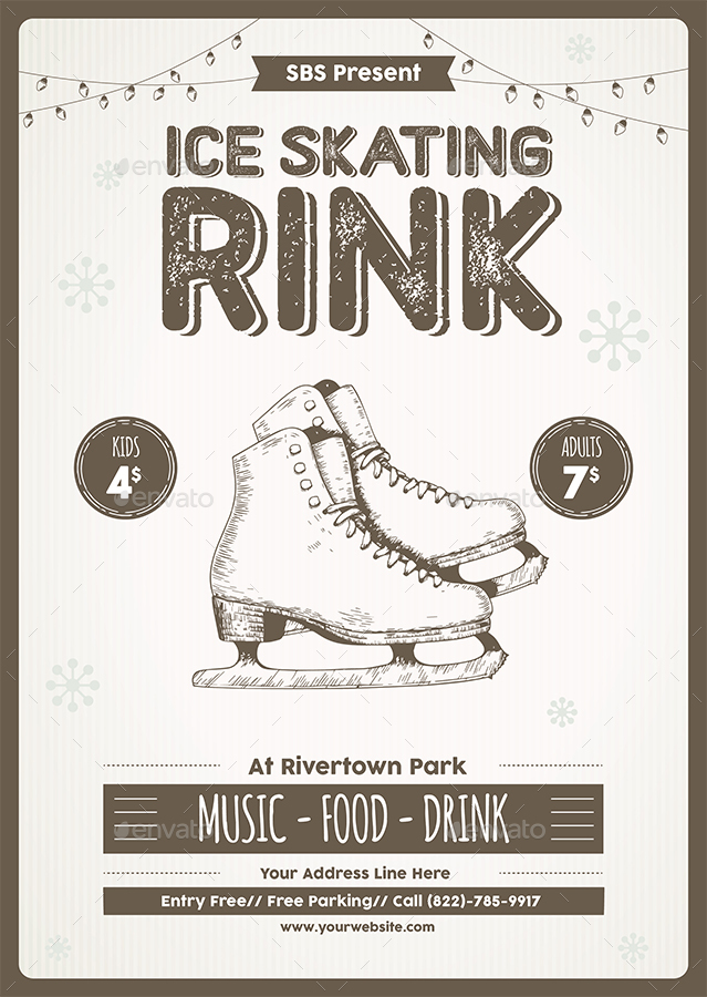 Ice Skating Rink Flyer Template by Yudha_SBS | GraphicRiver