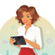 Business Woman with a Tablet - GraphicRiver Item for Sale