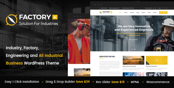 Factory Plus – Industry, Factory, Engineering and All Industrial Business WordPress Theme
