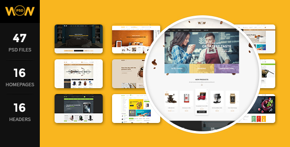 WOW – MultiStore PSD Template
