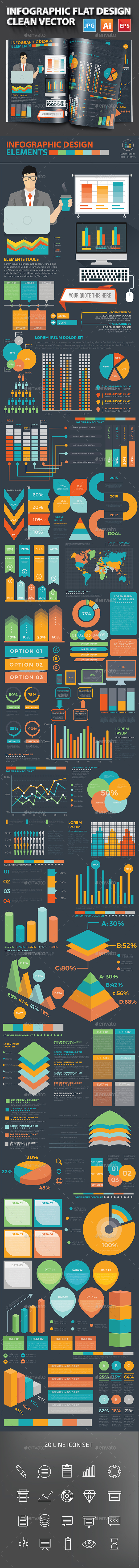 Infographic Flat Design - Infographics